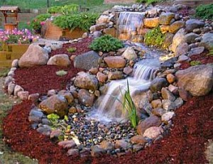 landscaping garden waterfall